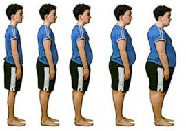 profile of teen boys showing weight gain